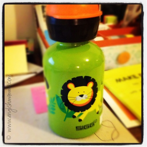 Little O's new Sigg bottle